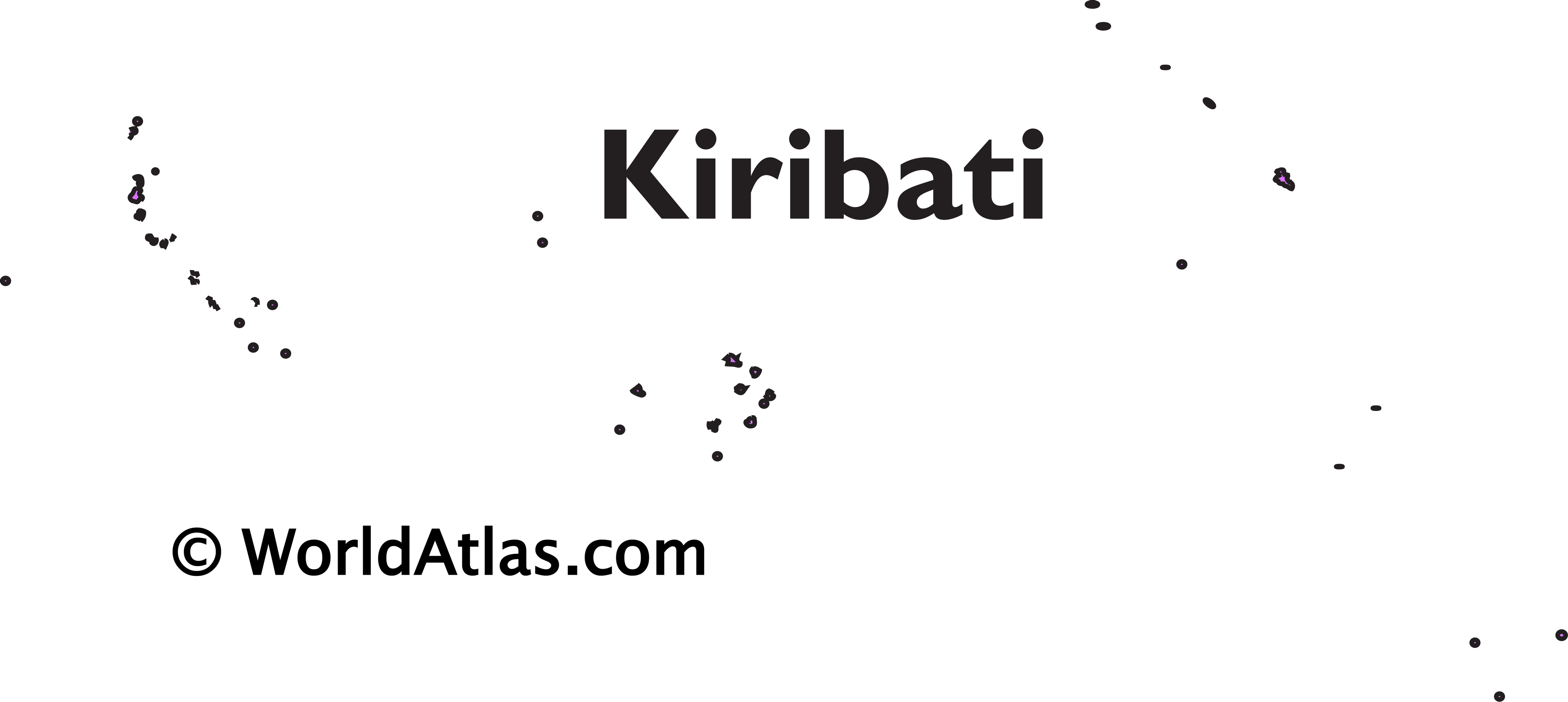 Outline Map of Kiribati