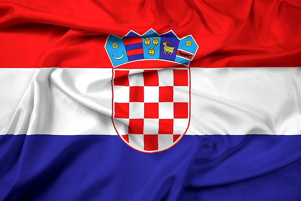 The flag of Croatia.