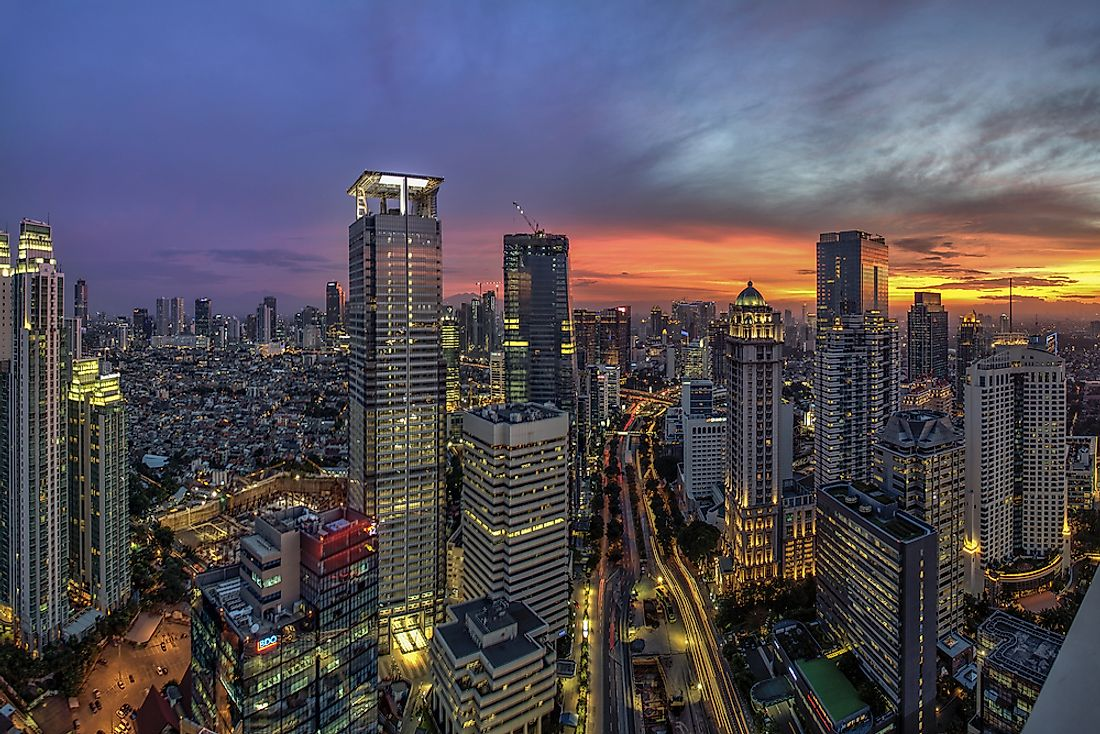 Jakarta, the largest city in Indonesia as well as its capital.