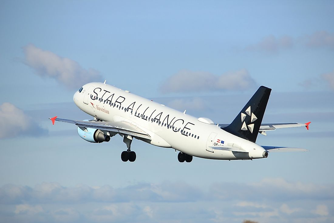 Austrian Airlines has been part of Star Alliance since March 2000. Editorial credit: StudioPortoSabbia / Shutterstock.com