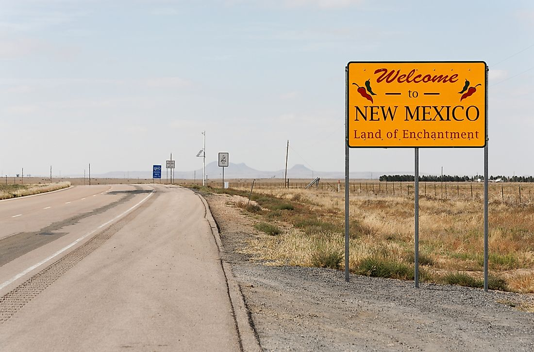 """Welcome to New Mexico"" sign."