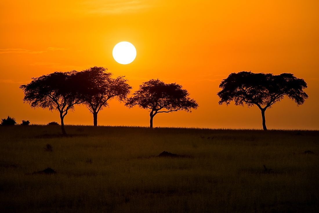 The sunrise in Murchison Falls National Park, one of Uganda's national parks.