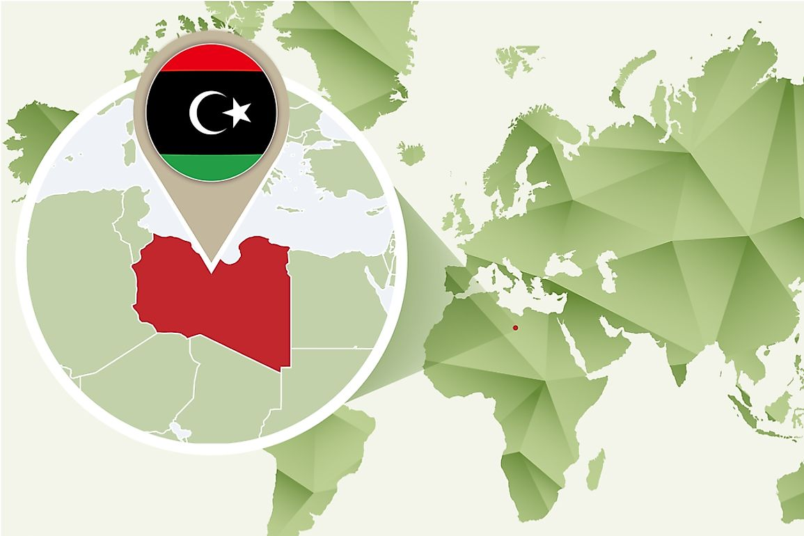 Libya is the fourth-largest country in Africa.
