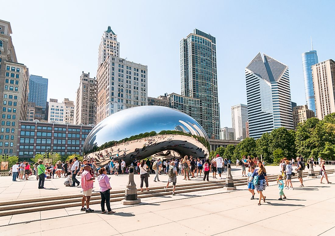 Millennium Park is the largest city square in the United States. Editorial credit: elesi / Shutterstock.com.
