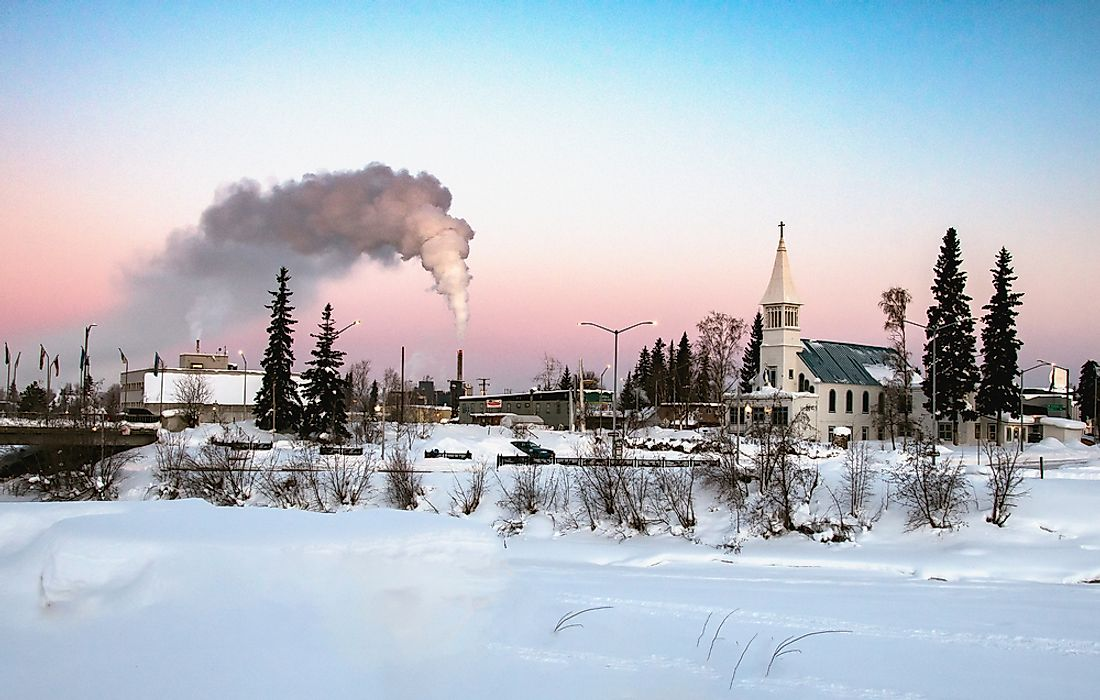Fairbanks, Alaska, has the coldest average winter temperatures of any city in the US.