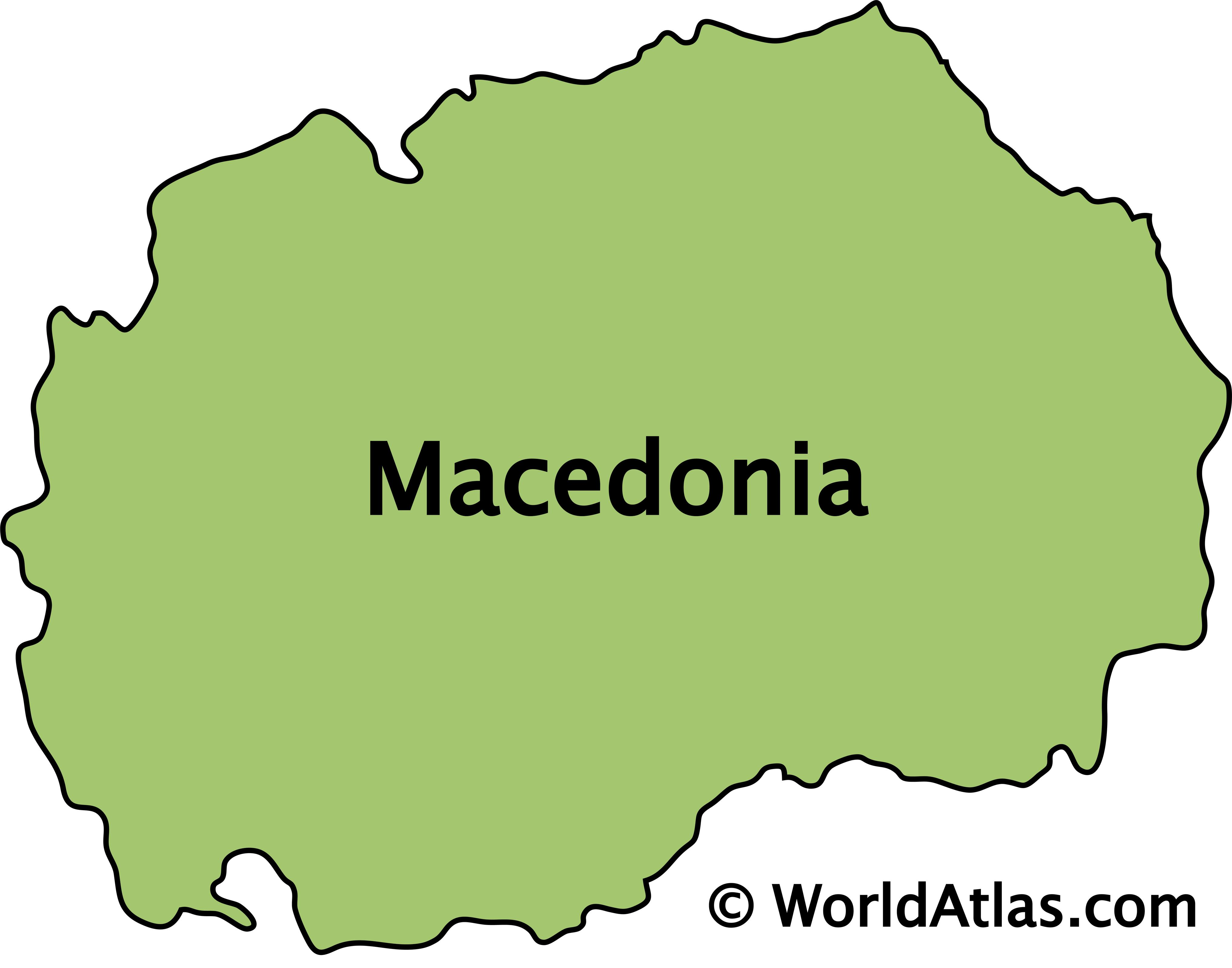 Outline Map of North Macedonia