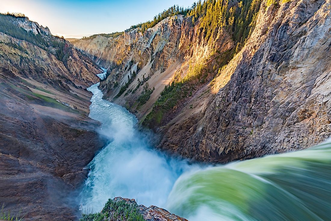 Canyon in Yellowstone National Park.