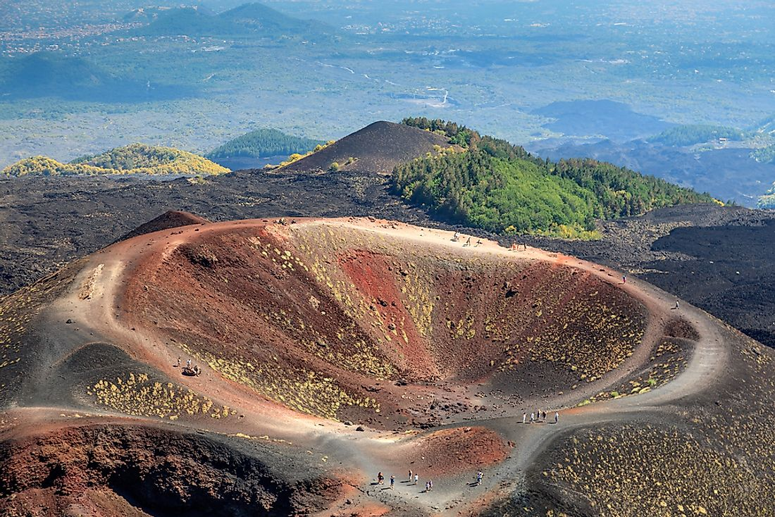 Mount Etna on the Italian island of Sicily.
