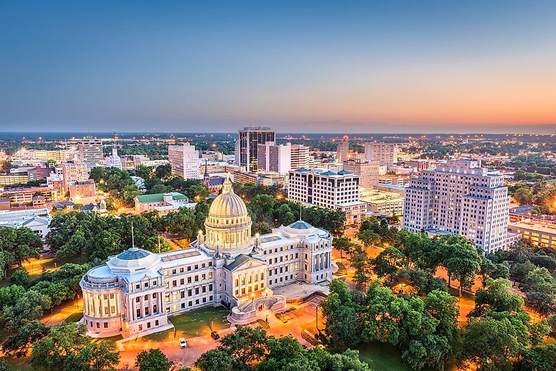 The 10 Biggest Cities In Mississippi Worldatlas