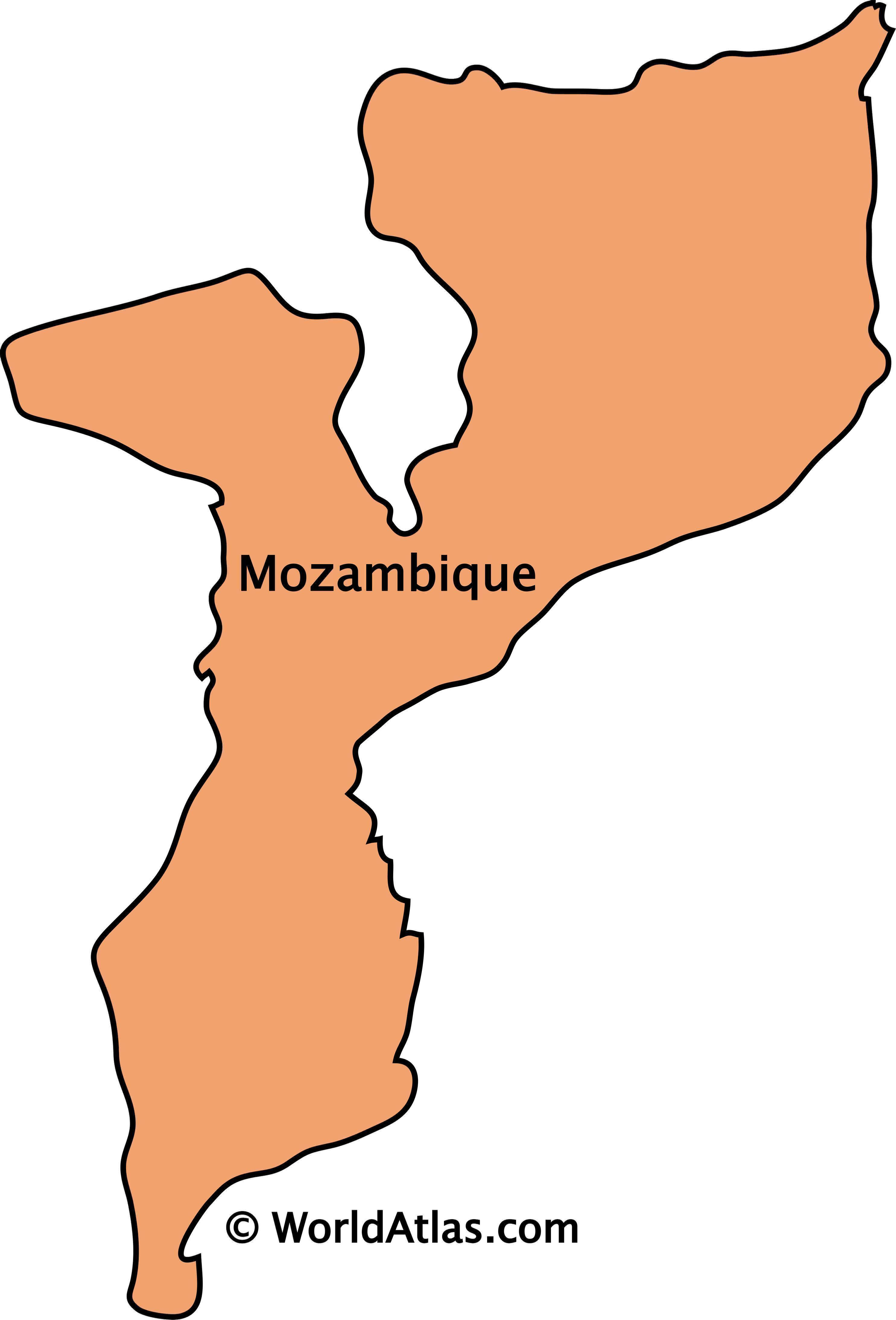 Outline Map of Mozambique