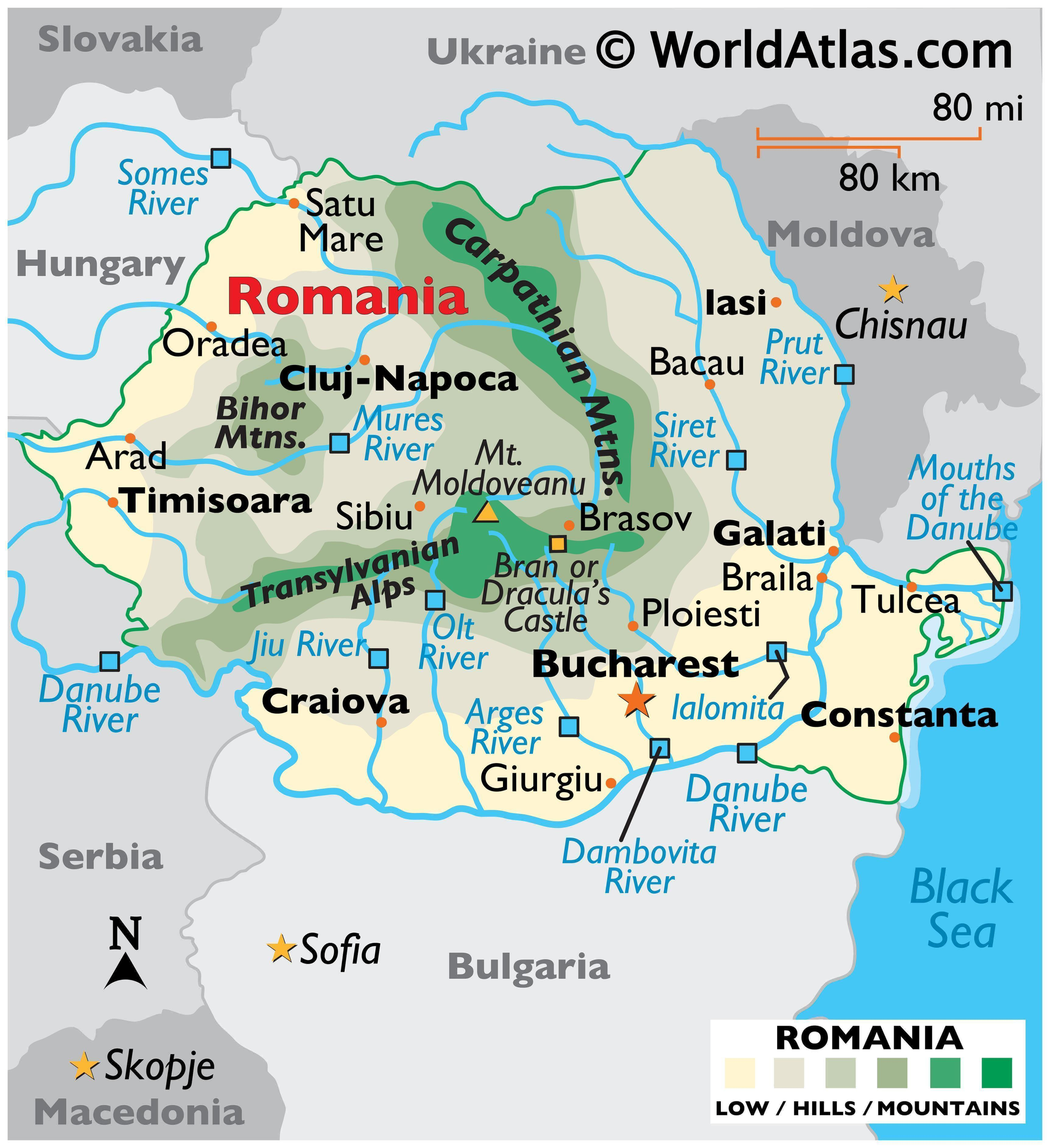 Picture of: Romania Maps Facts World Atlas
