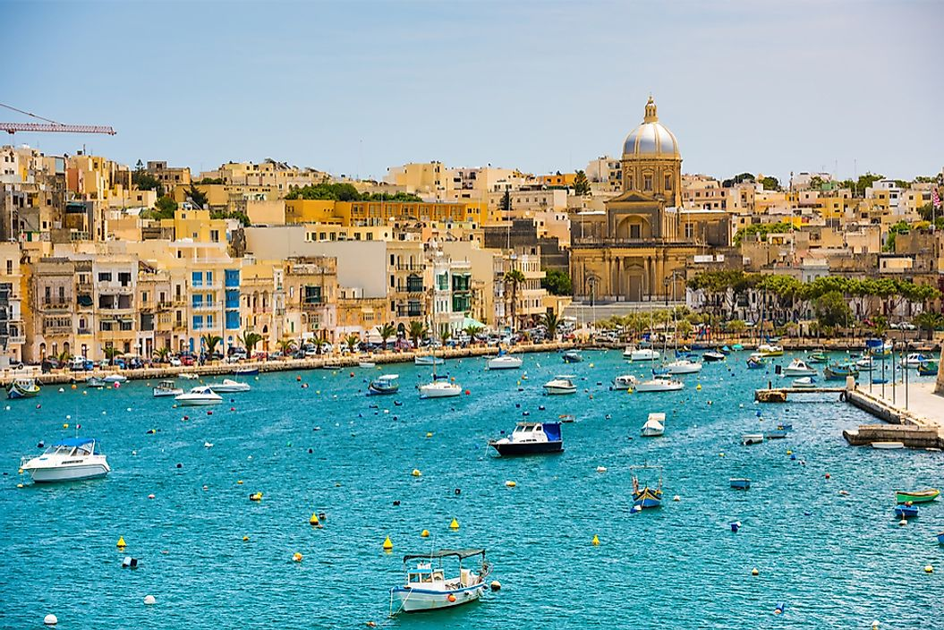 Valletta, Malta is a port city in the Mediterranean Sea.