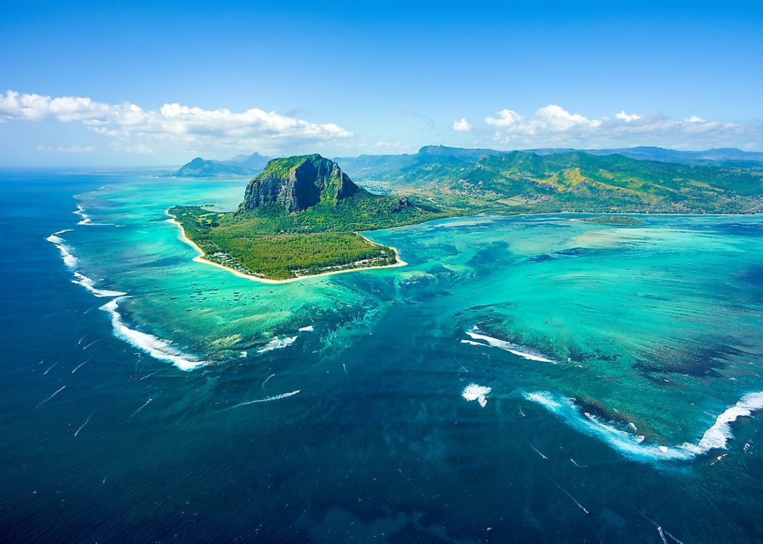 The island of Mauritius is a beautiful destination within Africa.