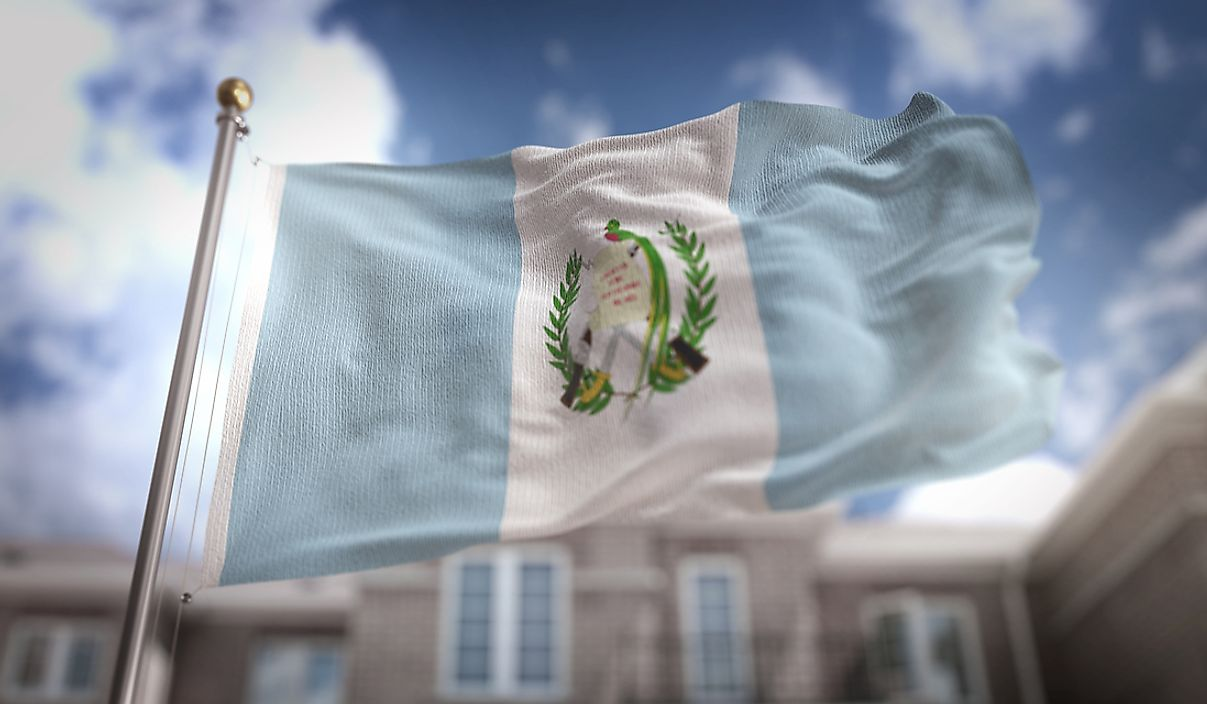 The flag of Guatemala.