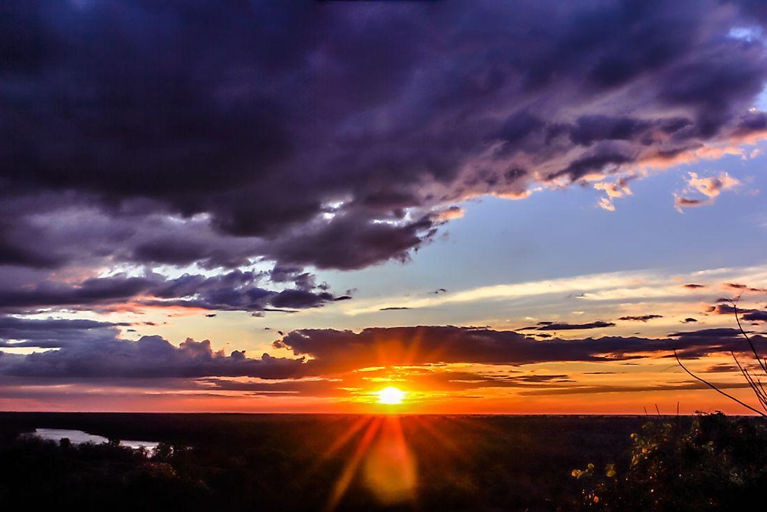 The sunrise in Thailand.