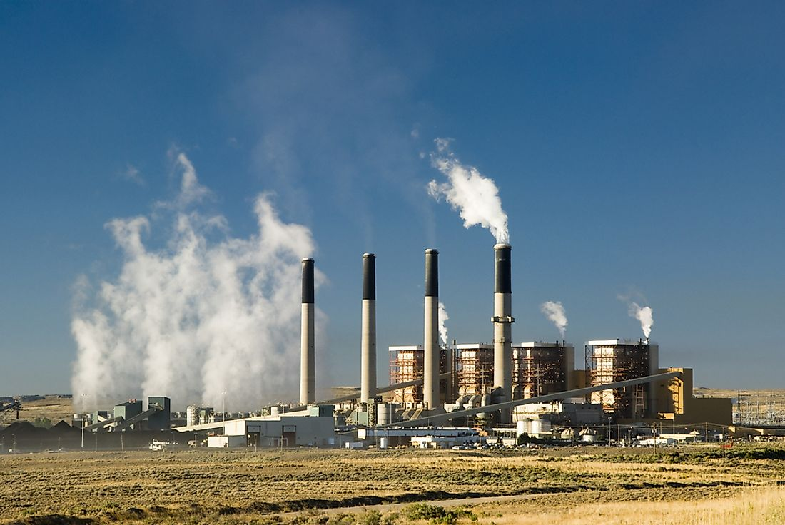 A coal fired electric power plant in Wyoming, USA.