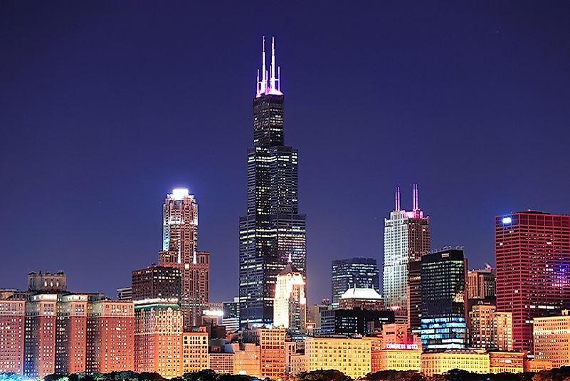 #2 Willis Tower, Chicago - 1,451 Feet
