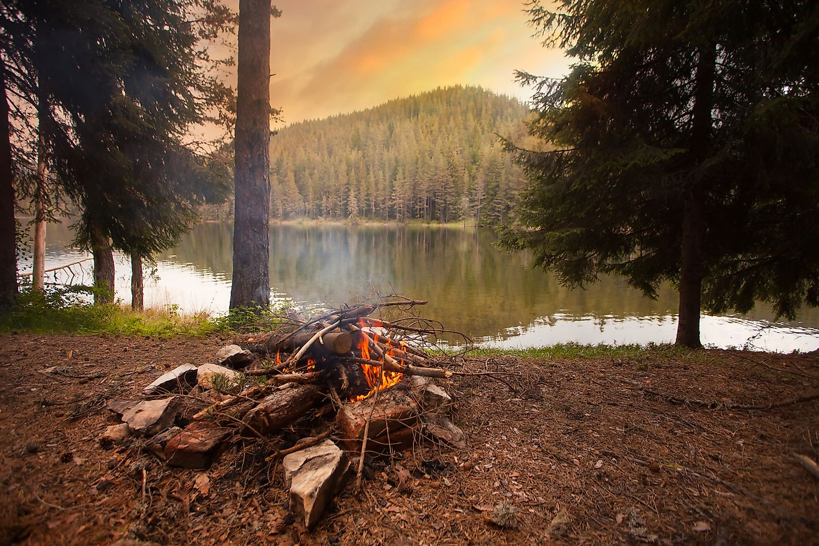 Campfires not douses out completely can lead to wildfires. Image credit: SSokolov/Shutterstock.com