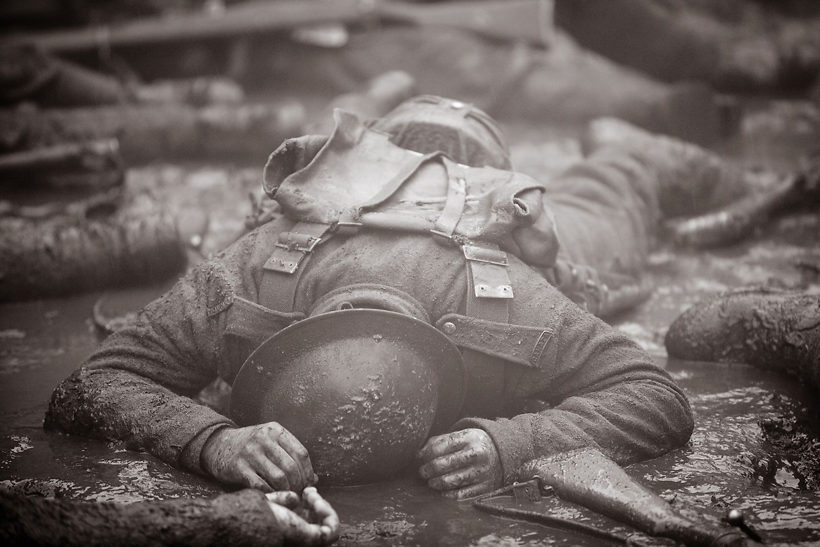Dead soldier on the Western Front. Image credit: Hedley Lamarr/Shutterstock.com