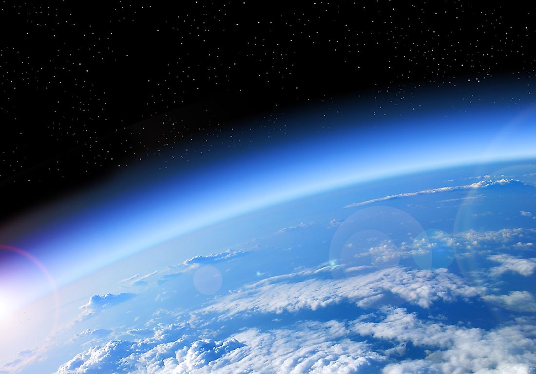 The ozone layer protects the Earth from UV rays.
