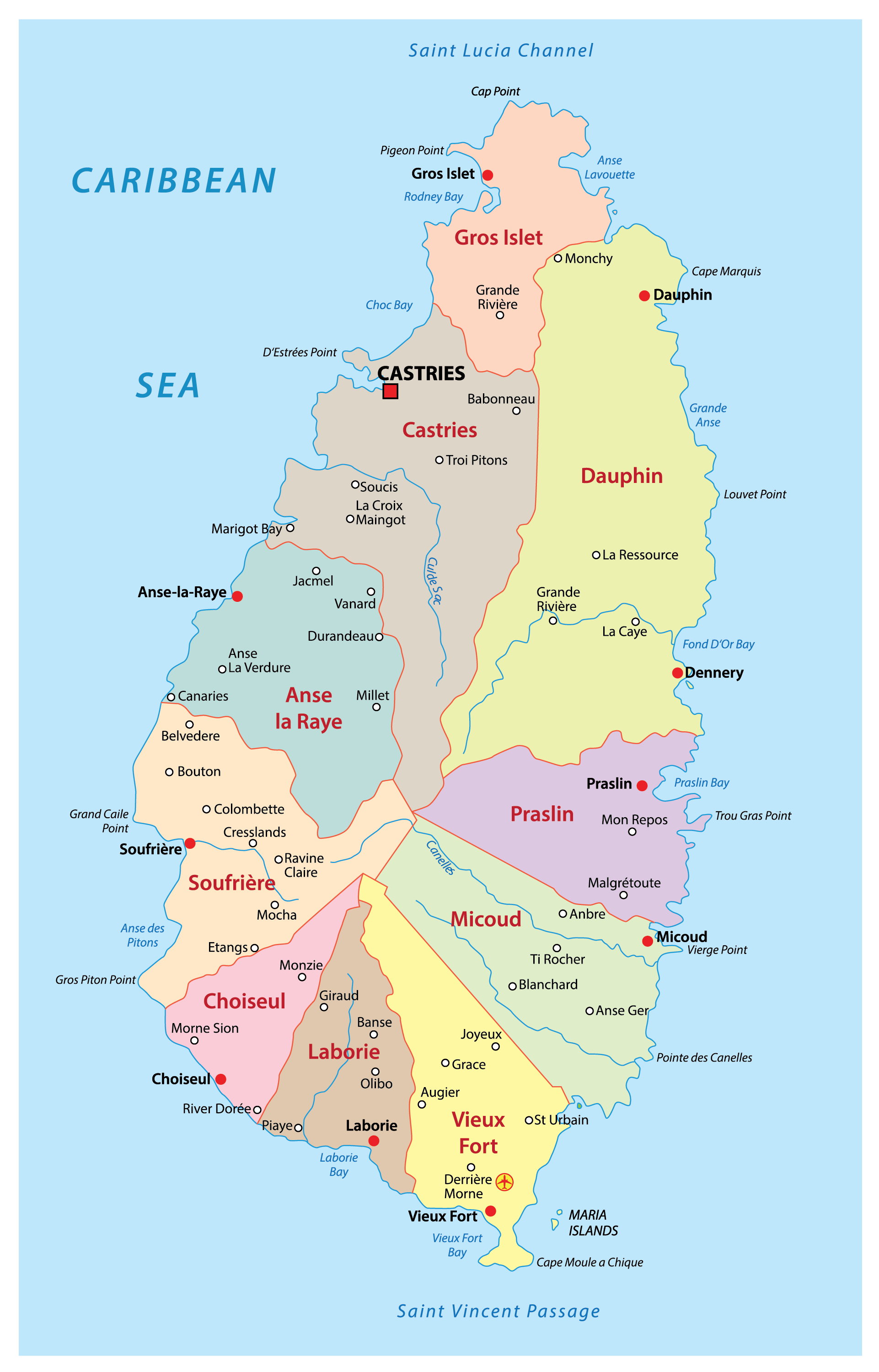 Image of: Saint Lucia Maps Facts World Atlas