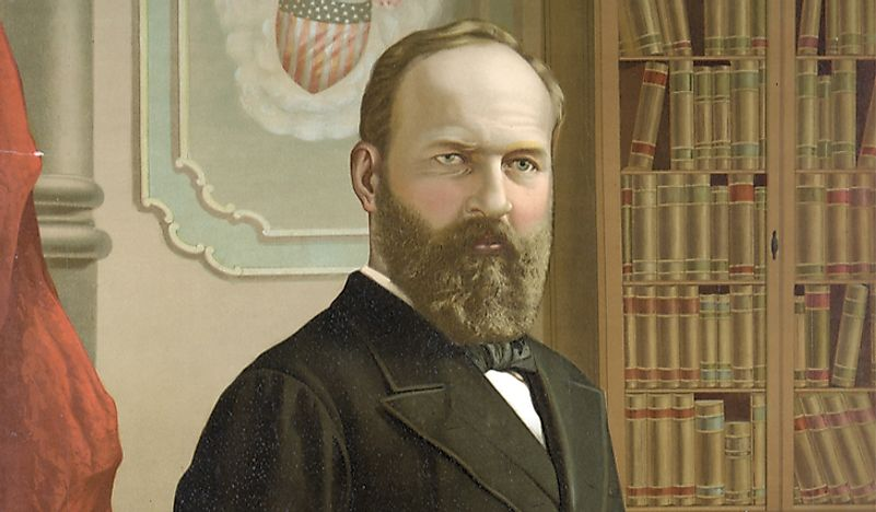 James Abram Garfield, the 20th President of the United States.