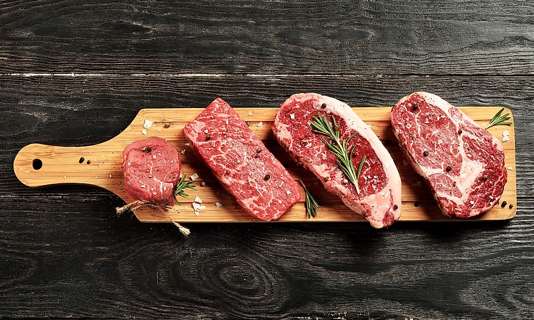 Beef is the third most consumed type of meat in the world.