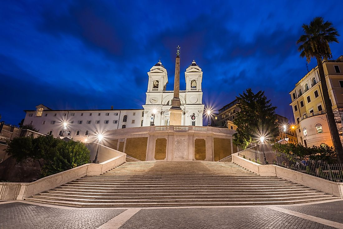 The Trinita dei Monti in Rome, Italy.