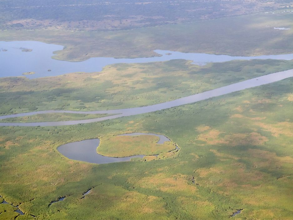 Wetlands and the White Nile River in South Sudan.