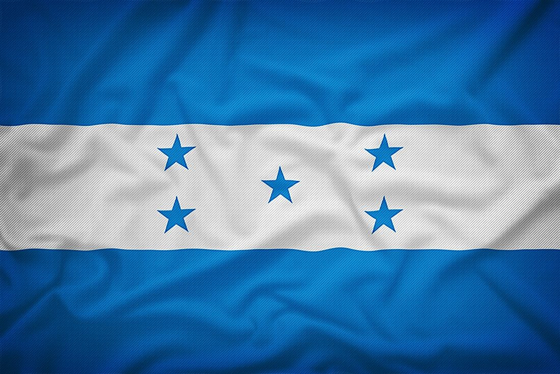 The flag of Honduras.