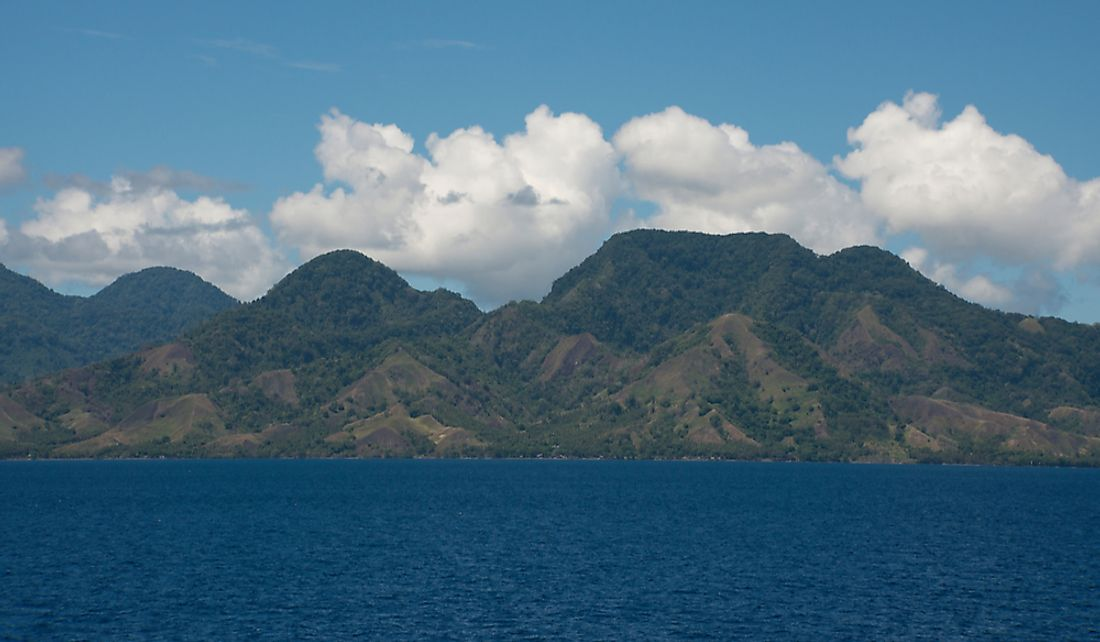 Coastal view of Guadalcanal Island.