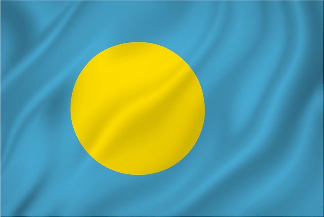 The flag of Palau.