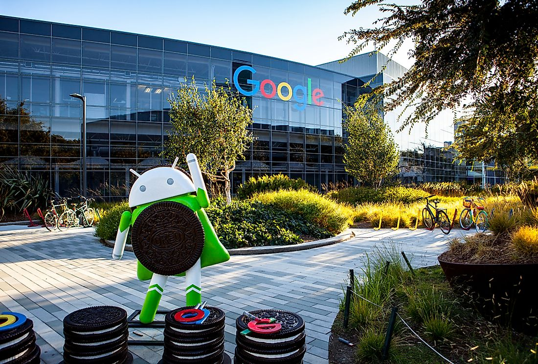 The Android statues are a highlight of visiting the Googleplex. Editorial credit: MariaX / Shutterstock.com