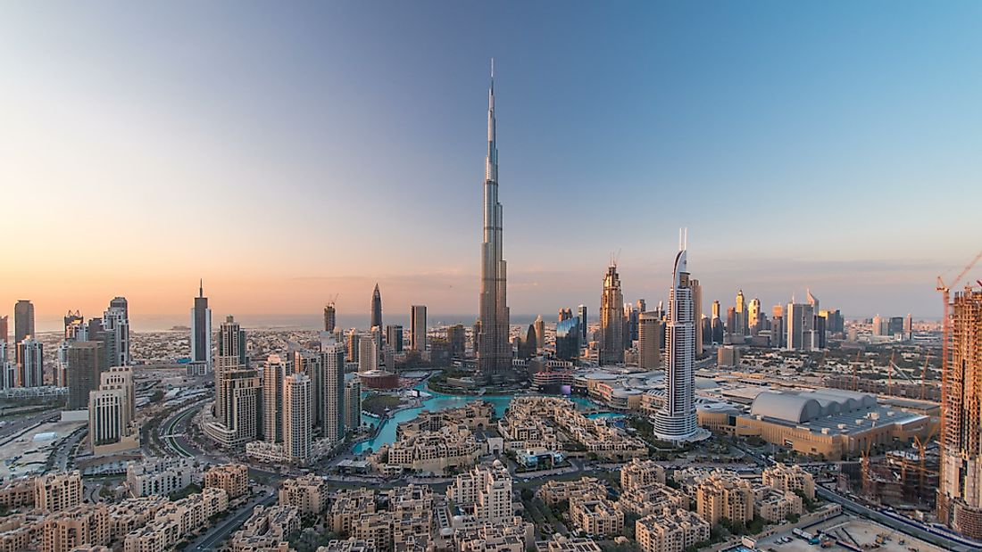 Burj Khalifa in Dubai, the United Arab Emirates.