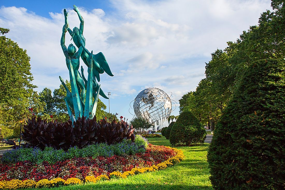 Artwork at the Flushing Meadows-Corona Park in Queens, NYC. Editorial credit: MISHELLA / Shutterstock.com
