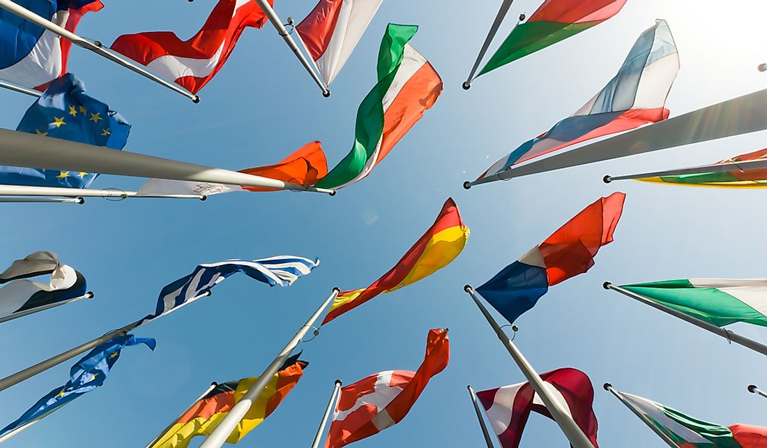 Of the 193 countries of the world, 68 country flags have the color green on them.