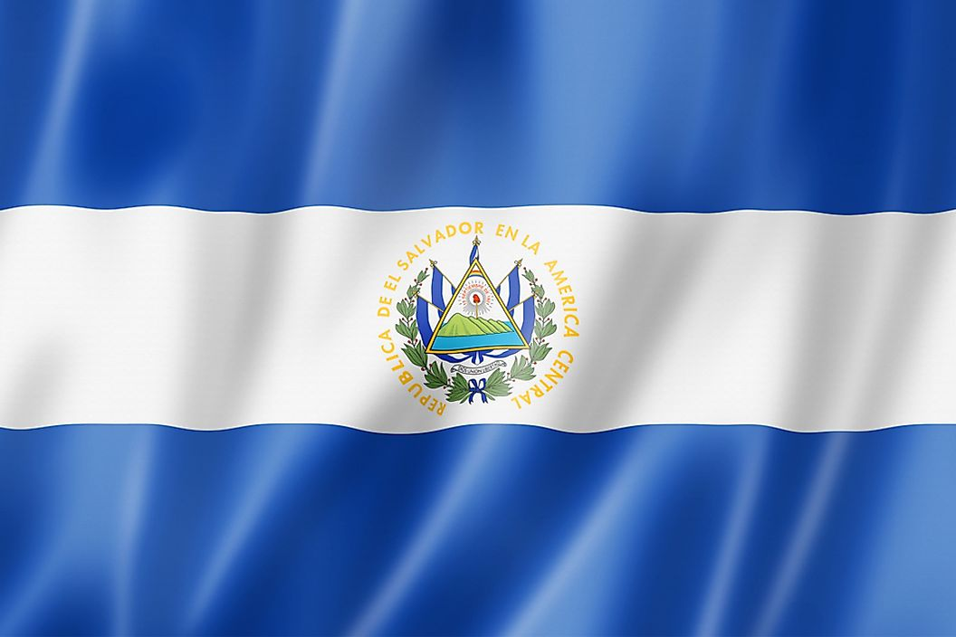 The flag of El Salvador.