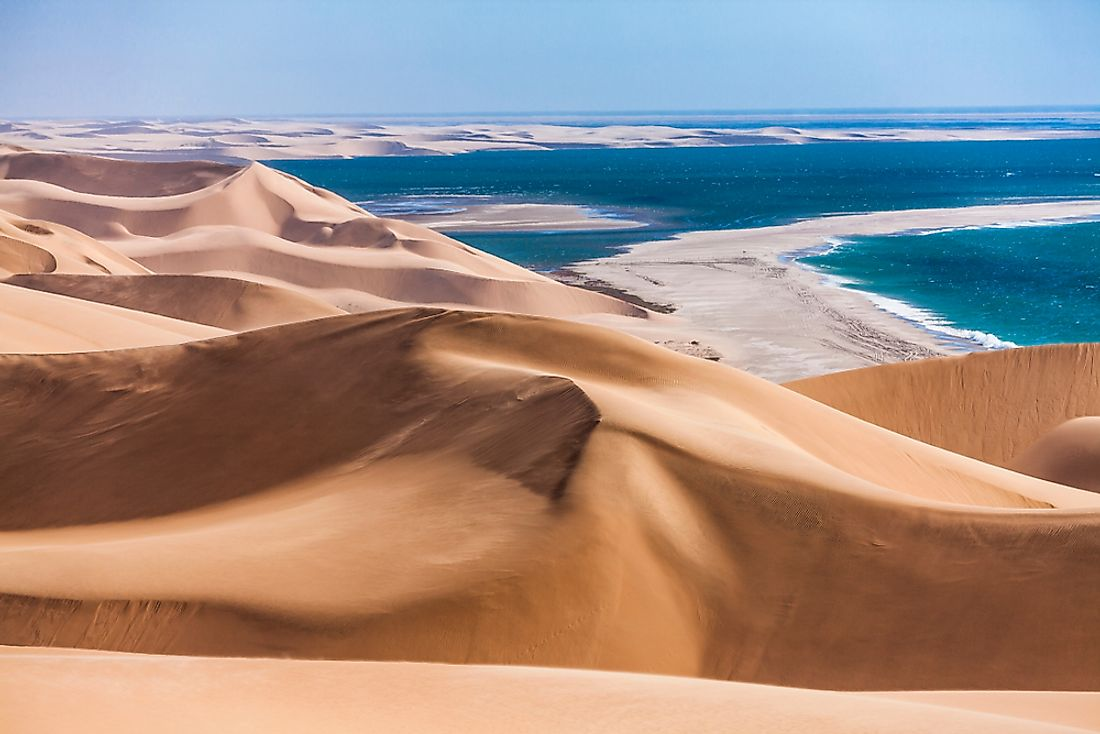 The coastal Namib Desert along the Atlantic Ocean in Namibia.
