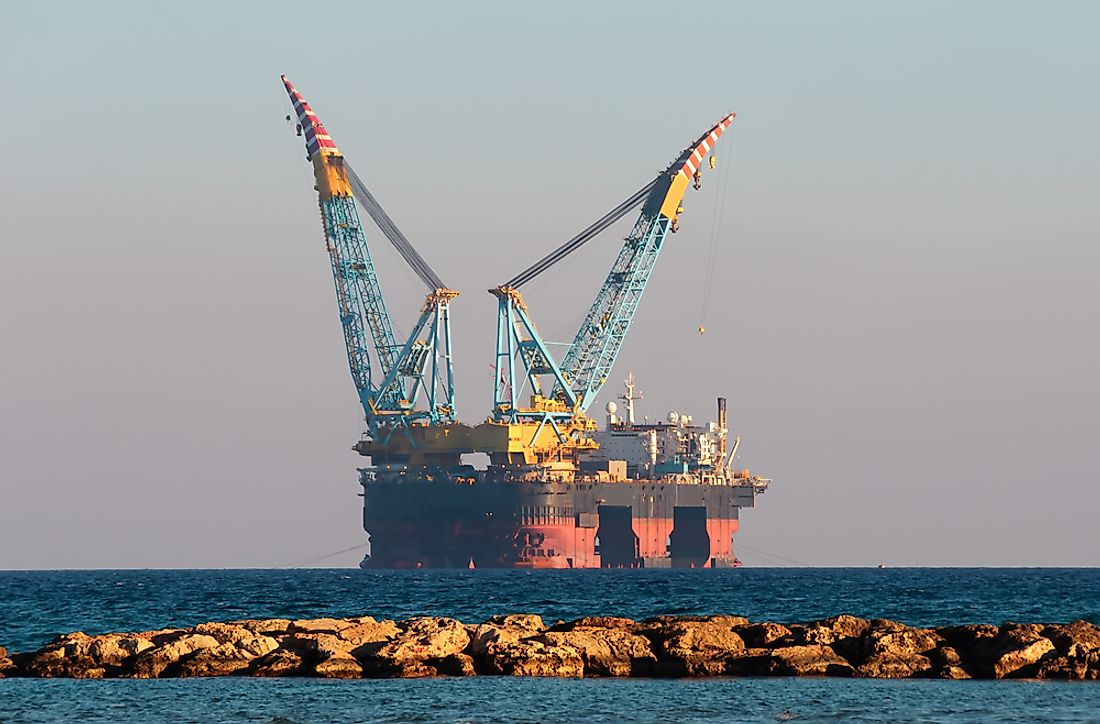 An oil rig off the coast of Cyprus.