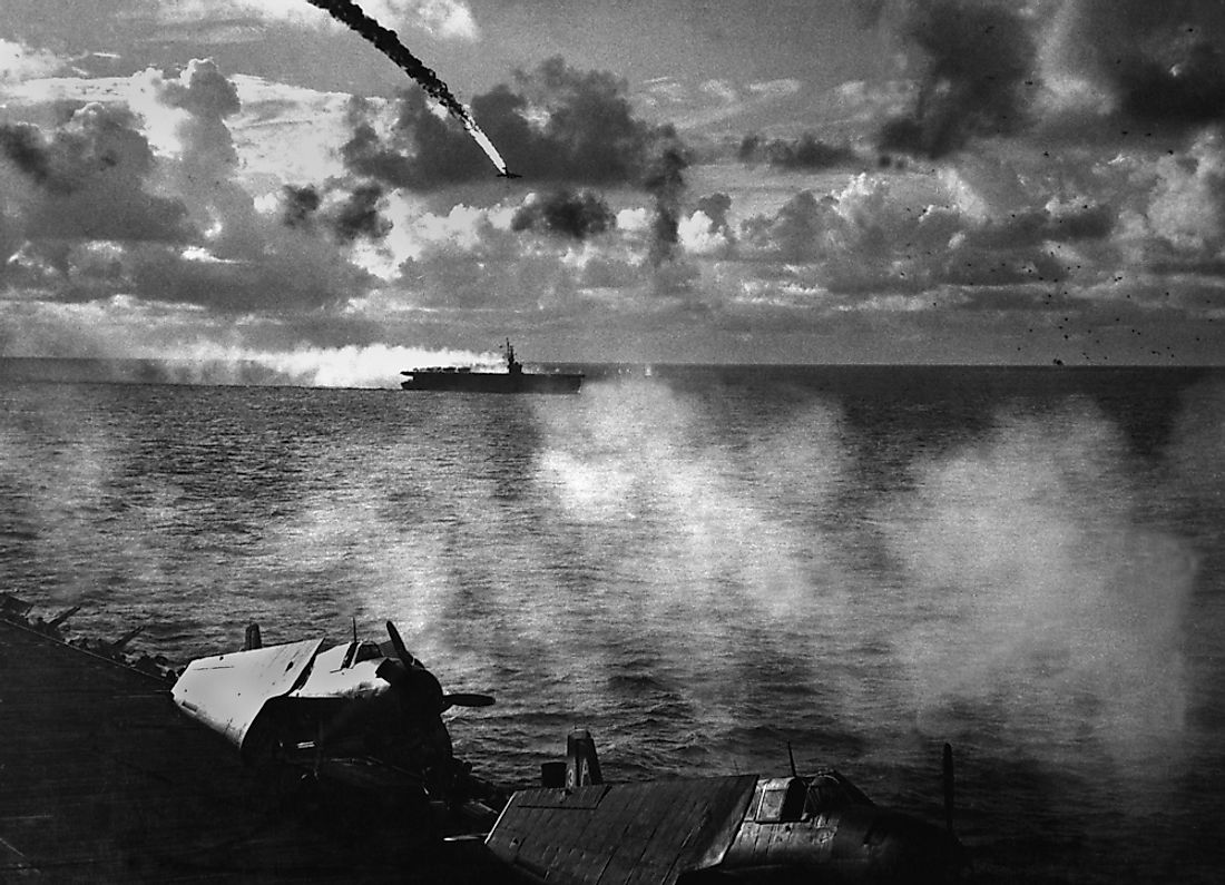 The Battle of the Philippine Sea, from June 19 to June 21, 1944, between the Japanese and US navy fleets.