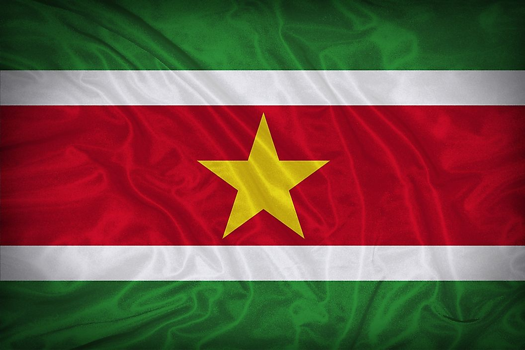 The flag of Suriname.