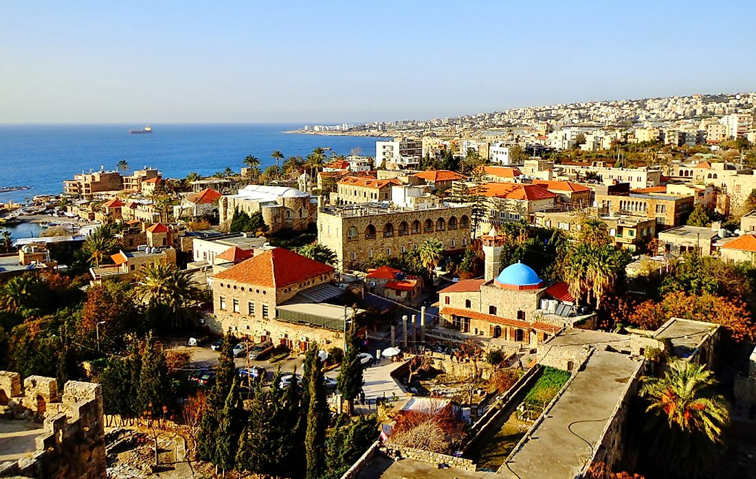 An overview of the city of Byblos, Lebanon today.
