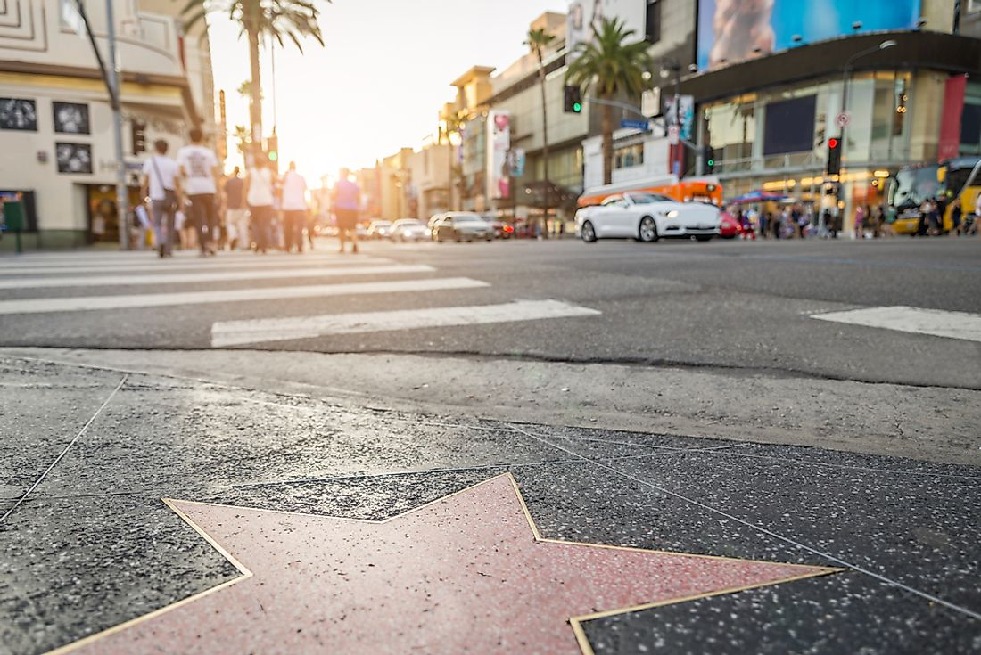The Hollywood Walk of Fame.