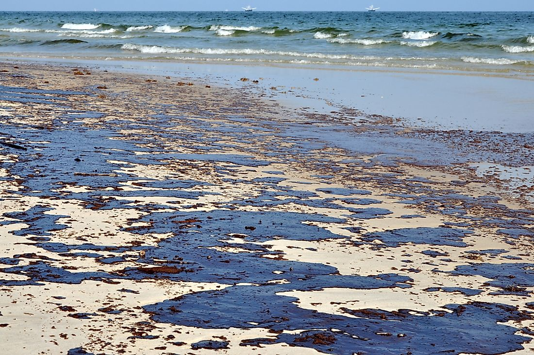 Oil spills cause damage to both the marine environment and the coastline habitat.