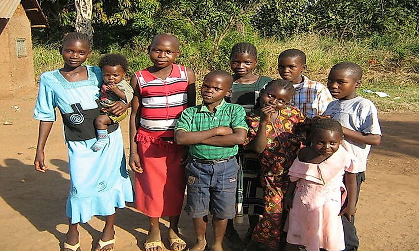 Children in Yambio, Western Equatoria, South Sudan