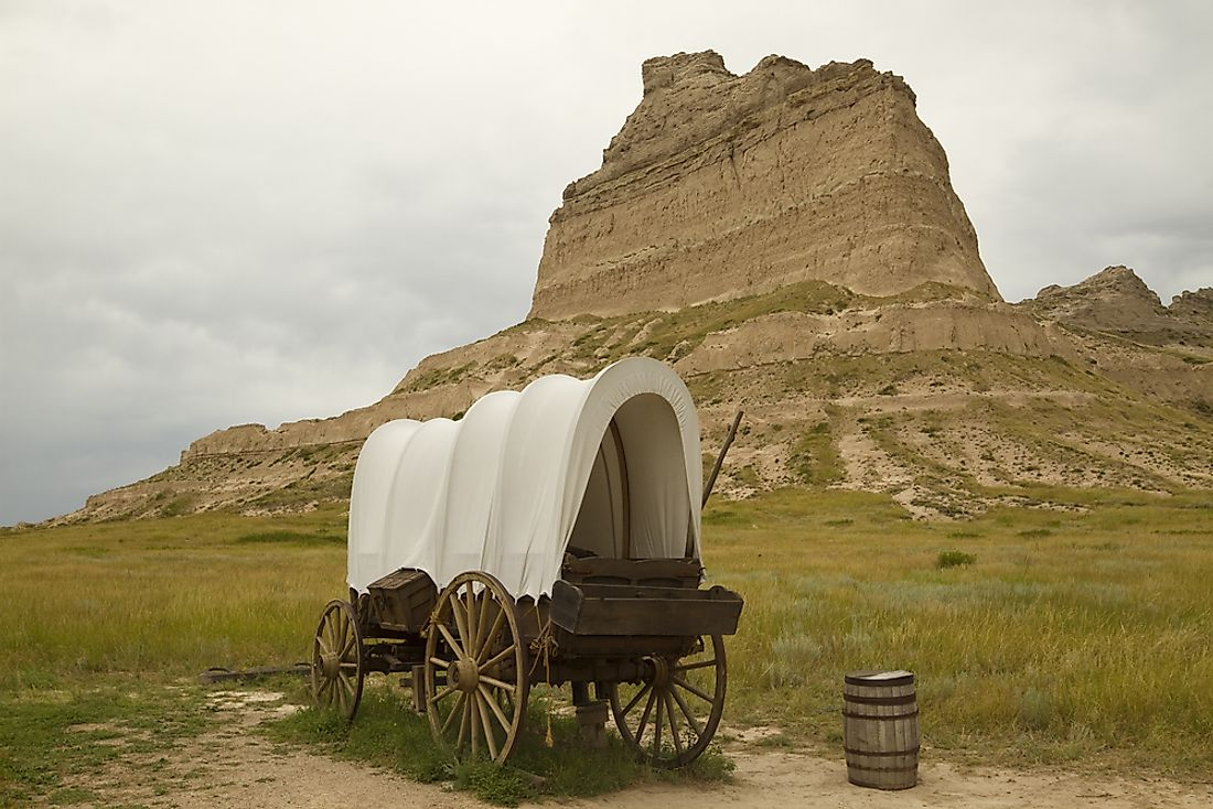 Scotts Bluff was an important landmark on the Mormon Trail.