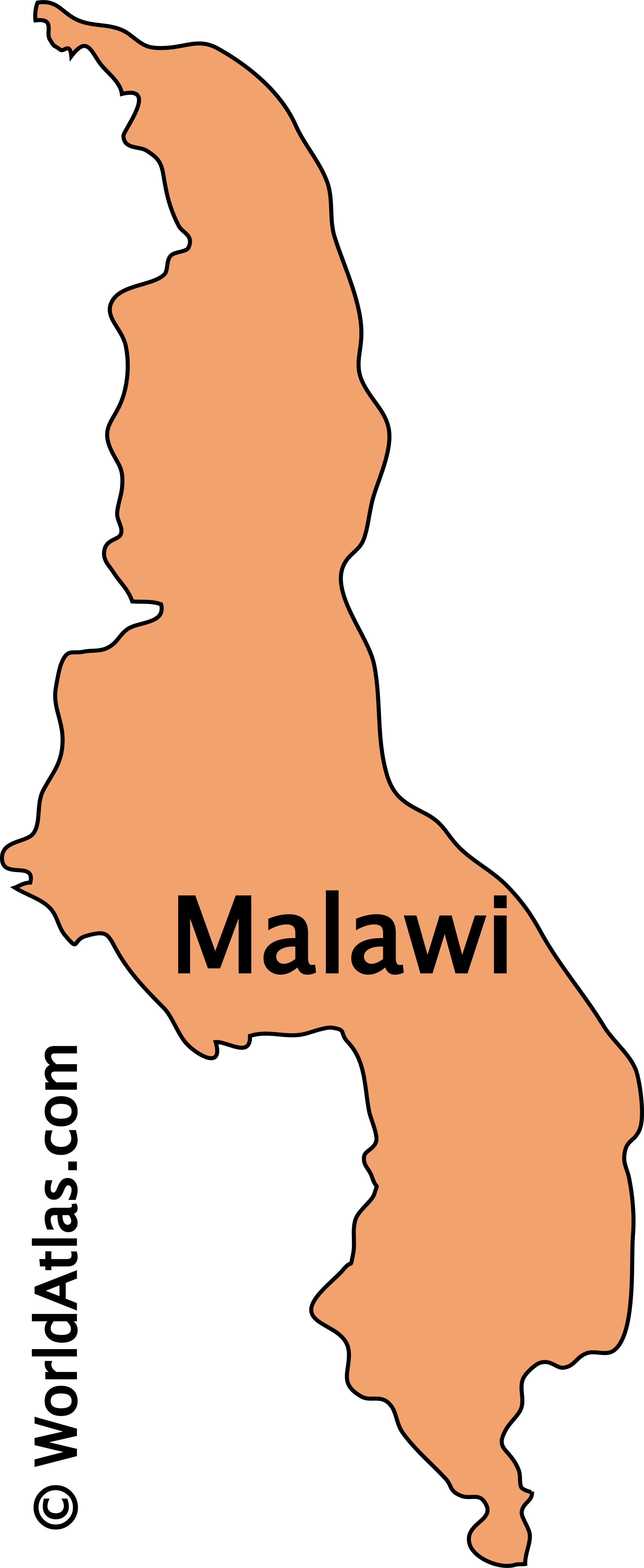 Outline Map of Malawi