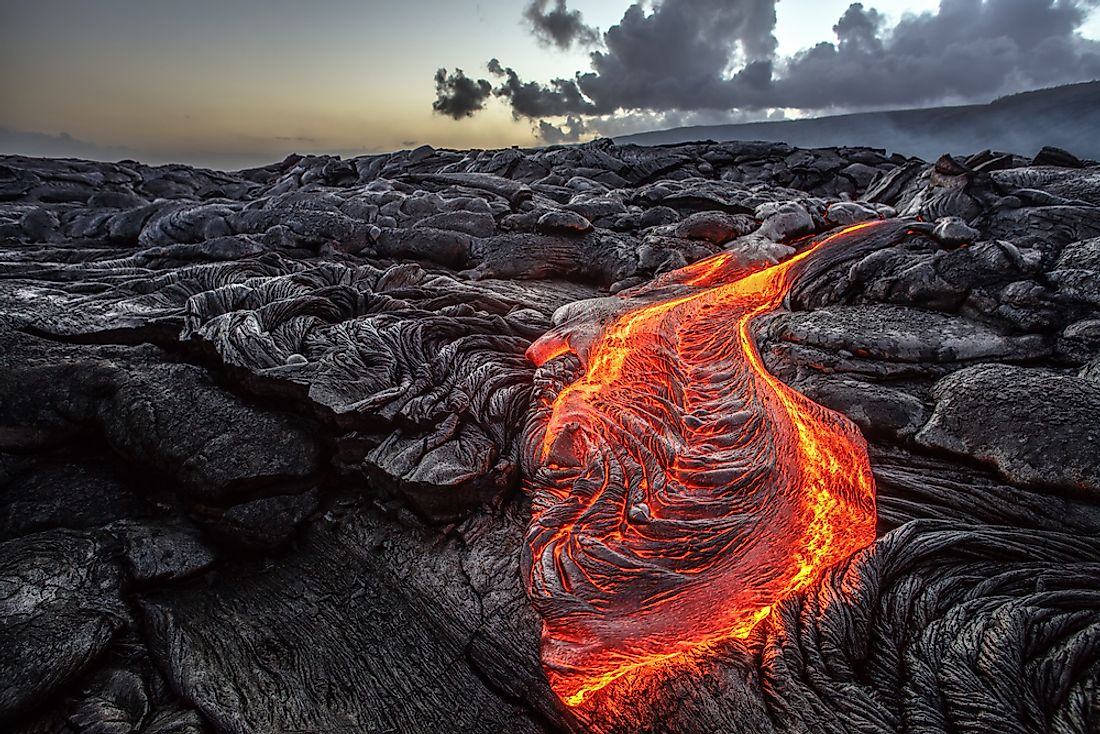 Once magma gets to the Earth's surface and erupts from a volcano, it is officially known as lava.