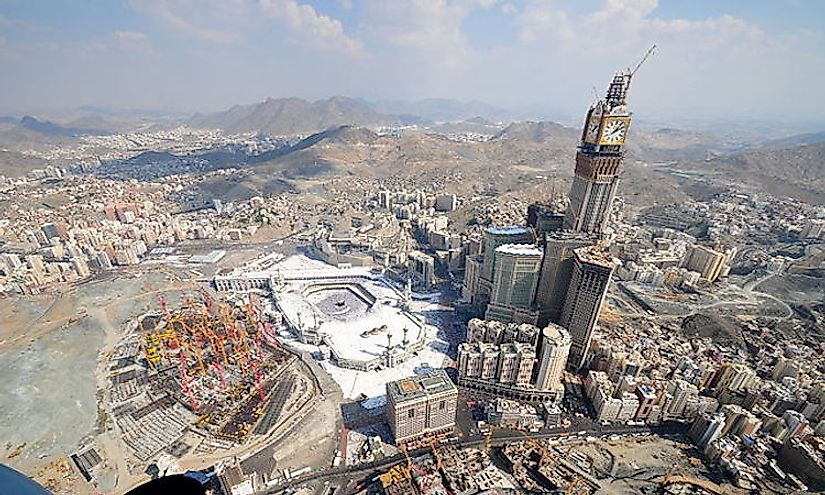 The Abraj Al Bait in Mecca, Saudi Arabia, is the most expensive building in the world.