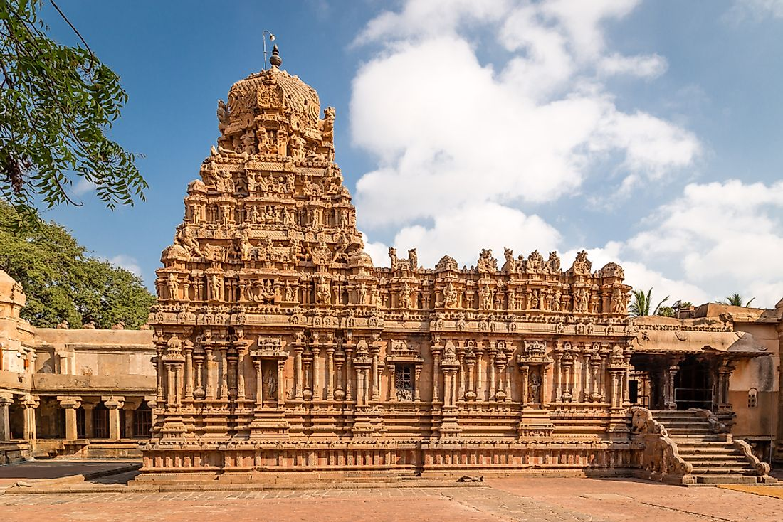 An ancient temple in Tamil Nadu, India.